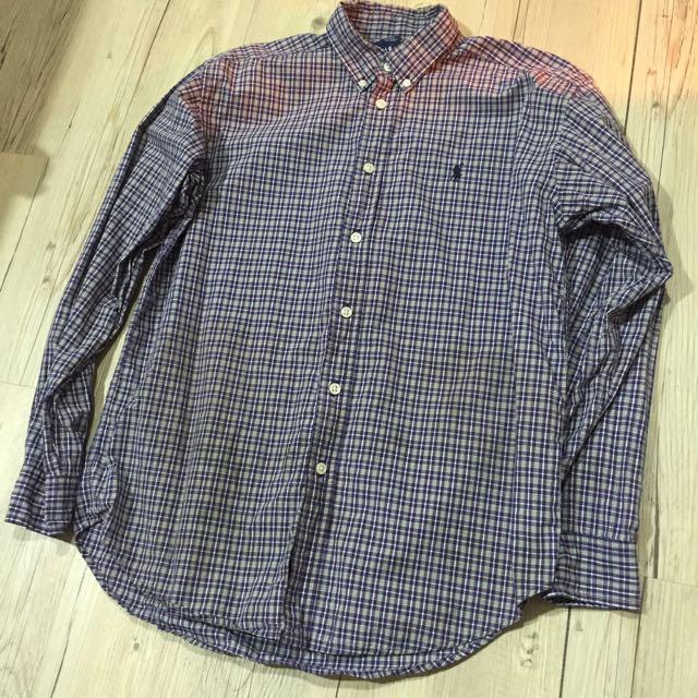 Ralph Lauren大童格子襯衫