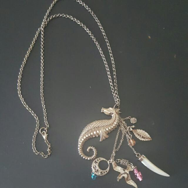 Seahorse Necklace with various charms