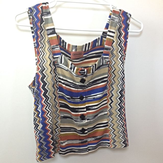 Vintage Missoni Square Neck Crop (Fits Like Size 10)