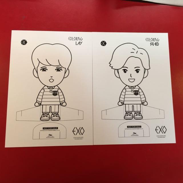 WTT Exo Colouring Book Postcard Entertainment K Wave On Carousell