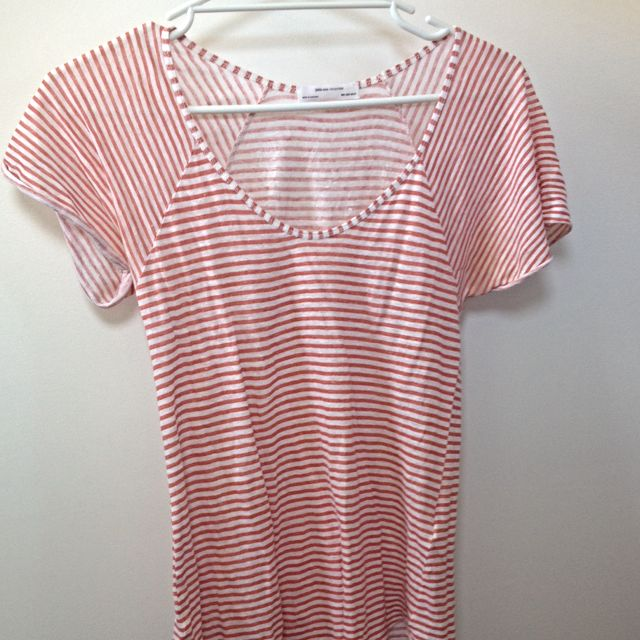 Zara Orange Stripped T-shirt (size S)
