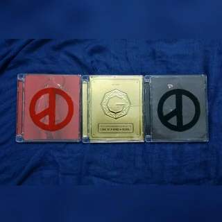 1 ▶G-DRAGON COUP D'ETAT ( RED & BLACK )  2▶2013 G-DRAGON WORLD TOUR LIVE CD - ONE OF A KIND IN SEOUL