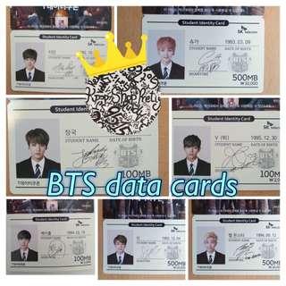 BTS 韓國data Cards 代購