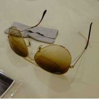Raybans Ray Bans aviator sun glasses gradient lens