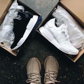 降價福利 全白 黑白 白 nmd 台灣未發售 保證正貨 剩不多 Adidas
