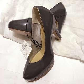 H&M HK購入 厚底 防水台 高跟鞋 漆皮 37號