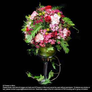 TABLE ARRANGEMENT Of Roses, Carnations, Sweet Williams
