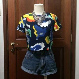 MDS Abstract Crop Top