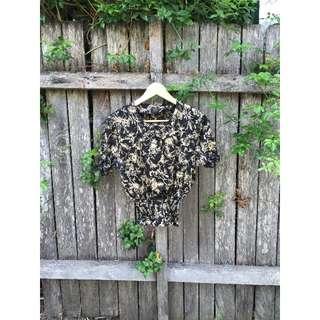 ‼️Vintage Floral Black and Gold Shirt