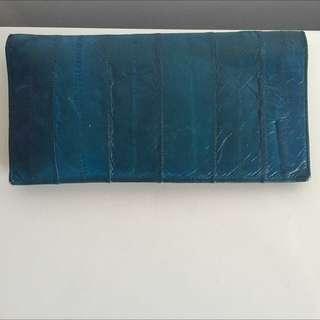 Eel Skin Wallet, Blue