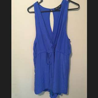 PIPER LANE Size 8, Midnight Blue Playsuit
