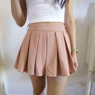 Nude Pink Pleated Skort Size6-8