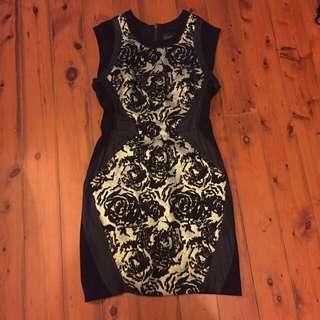 Wish Gold Black Rose Dress