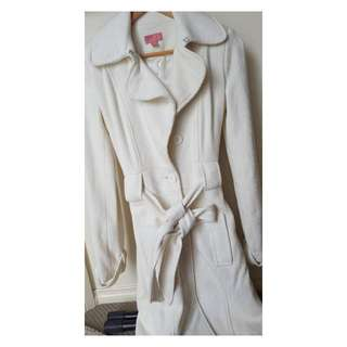 Size 6 - Wish Trench Coat Off White
