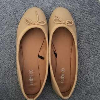 Tan Rubi Shoes Flats