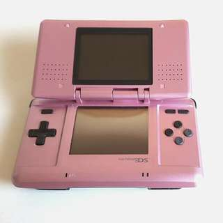 Pink Nintendo DS + Case