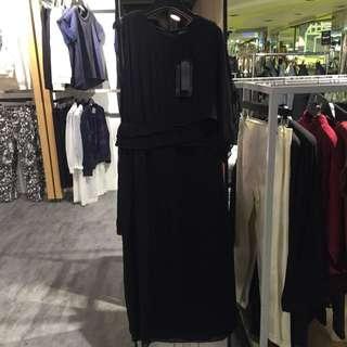 二手 時尚專櫃雪紡長洋裝
