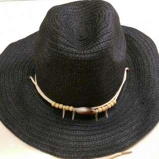 貝殼裝飾編織帽