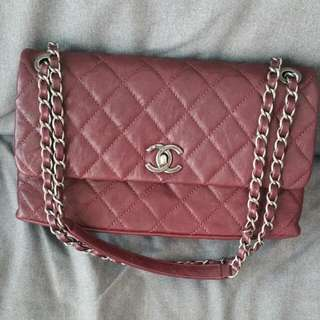 Sale! Chanel Burgundy Distressed Leather Flap Bag