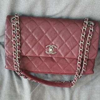 Sale! Chanel Burgundy Distressed Leather Flap Bag