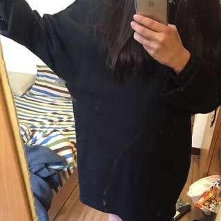🆕長版 內刷毛 飛鼠袖 洋裝 Zara