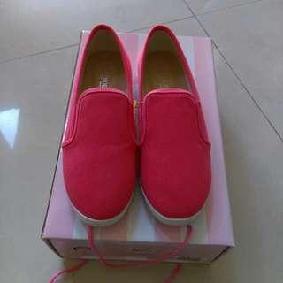 D+af 全新桃紅色懶人鞋37(23.5)號