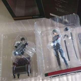 絕版 美品 壽屋 1/10 PVC 咎狗之血 Akira & Shiki 黑軍服 black military figure 手辦
