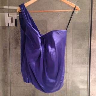 Royal Silk Top - Blue, Size 8
