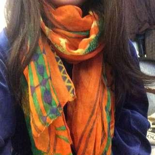我超花大絲圍巾