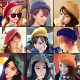 全新 蓓蕾帽 畫家帽 羊毛氈帽