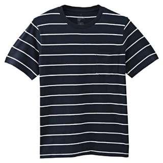 Looking For Muji Striped T-Shirt (Navy)