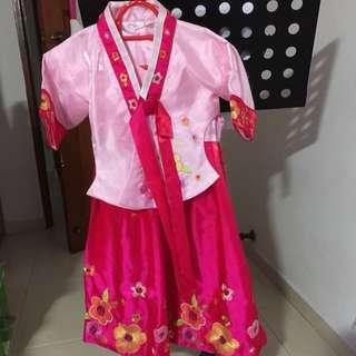 Preloved Korean Hanbok Girl Dress Size 7