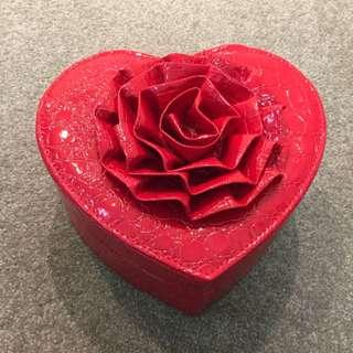 Red Heart shape Jewellery Box