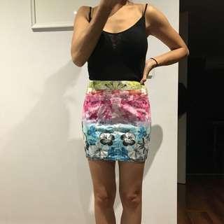 Size Eur 4 Denim Material Like Skirt