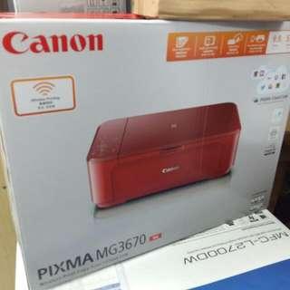 Canon MG3670 (紅/白/黑3色可選)
