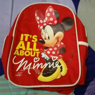 ✔(SOLD) PRELOVED MINNIE MOUSE TODDLER  BACKPACK