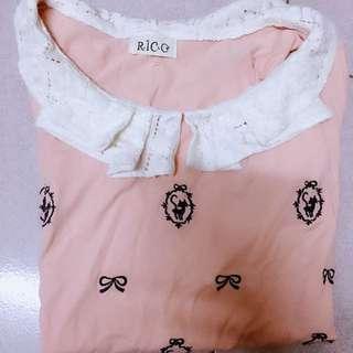 可愛粉紅上衣