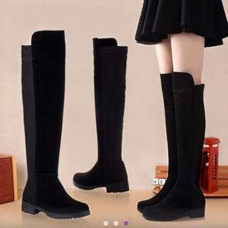 平底靴 膝上靴 長靴