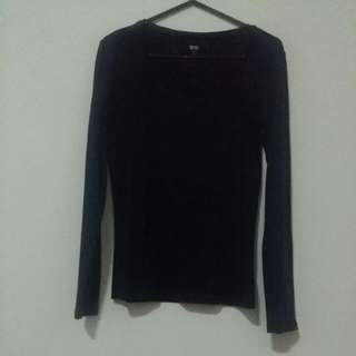 Uniqlo Navy Blue Supima Long Sleeves *RESERVED