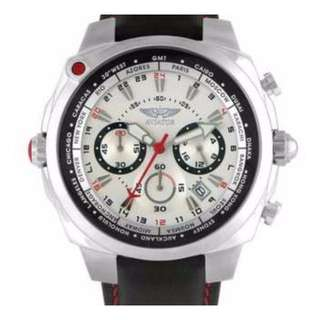 Aviator F-Series Mens World Time Chronograph Watch