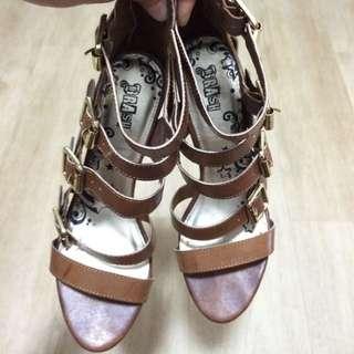 Brash Brown Heels
