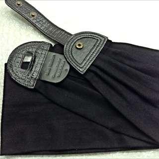 'Blue Illusion' Black Cincher Belt Size L