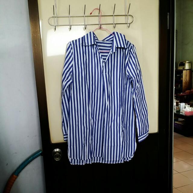 藍色條紋襯衫