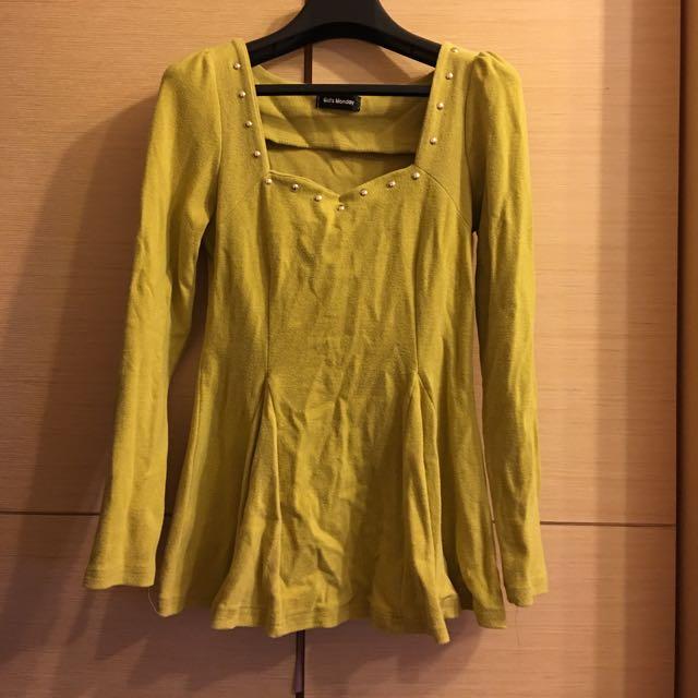 芥末黃上衣