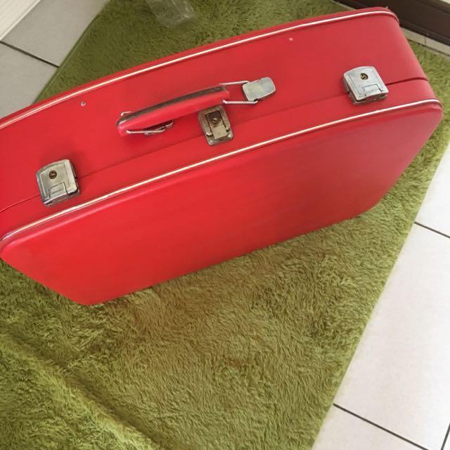 復古紅皮箱 80s