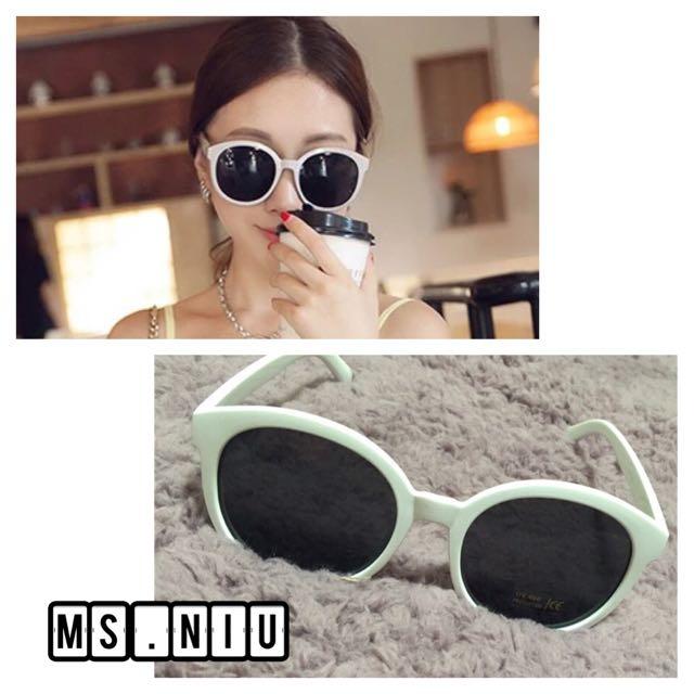 眼鏡 墨鏡 韓國 白框
