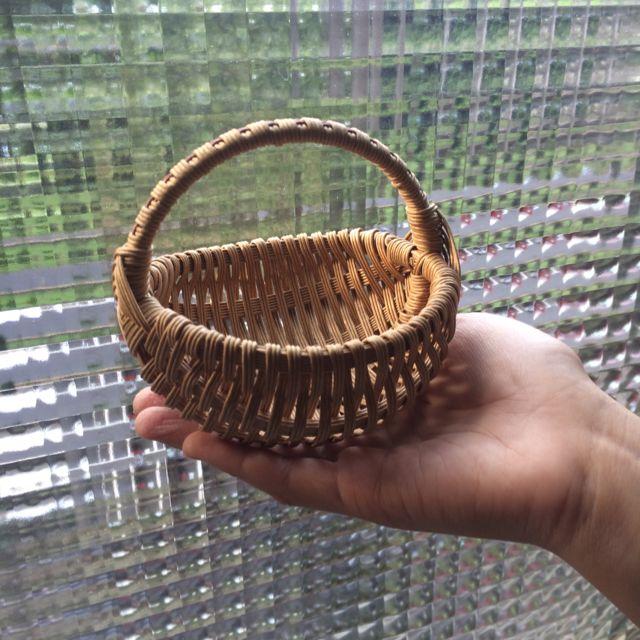 [ Das] 迷你手工紙籐編織籃