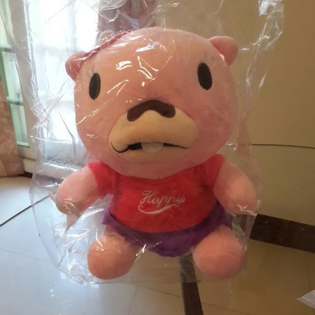 全新 Happy粉紅熊