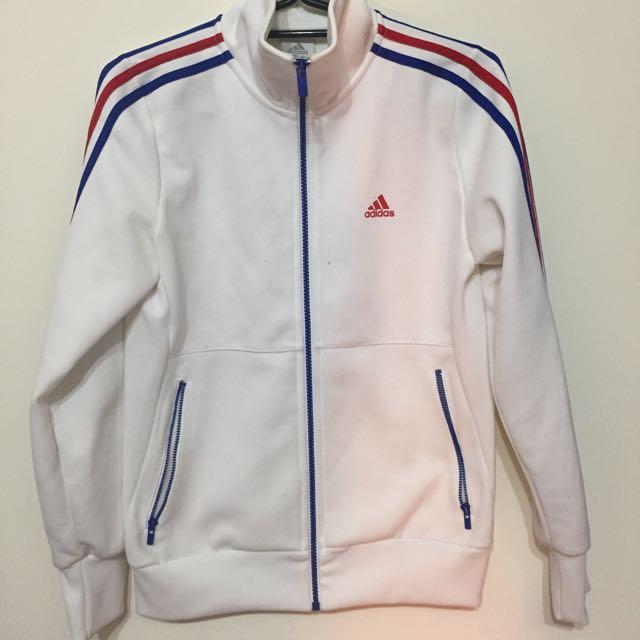 Adida白色長袖外套