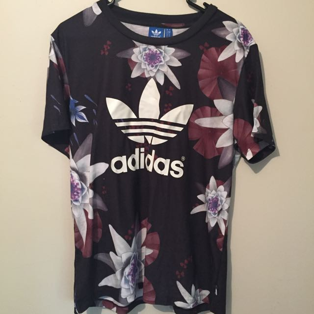 ADIDAS Floral Print Tshirt, UK Size 10, US Small